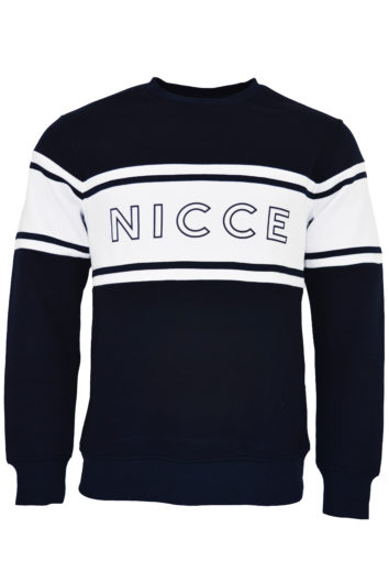 Nicce - Panel Sweatshirt - Navy