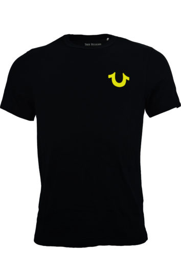 True Religion - Double Puff Logo T-Shirt - Neon Yellow