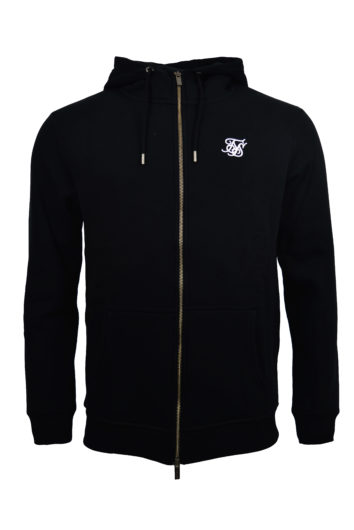 Sik Silk - Zip Through Hoddie - Black