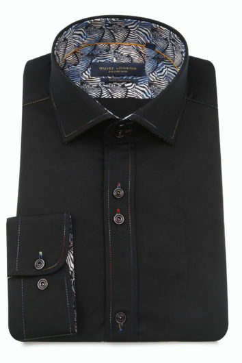 Guide London - LS75488 Long Sleeve Shirt - Black
