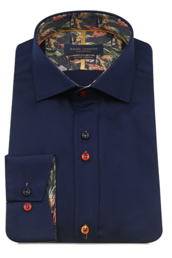 Guide London - LS75490 Long Sleeve Shirt - Navy