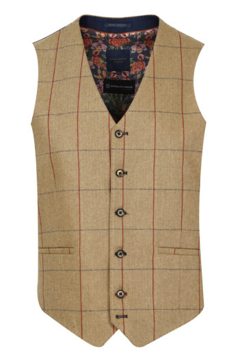 Guide London - WC3367 Waist Coat - Tan