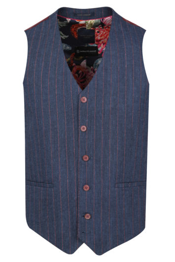 Guide London - WC3369 Waist Coat - Blue/Pink