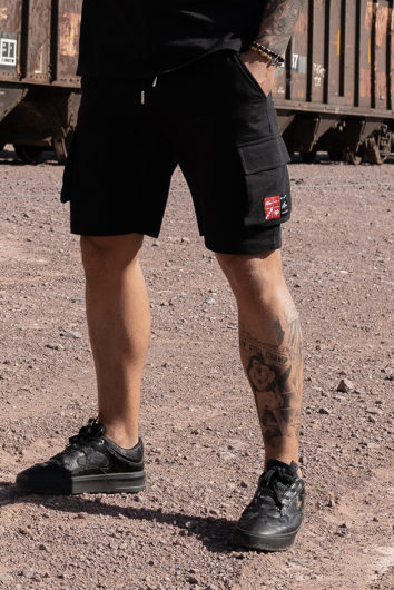 Nimes - Cargo Pocket Shorts - Black