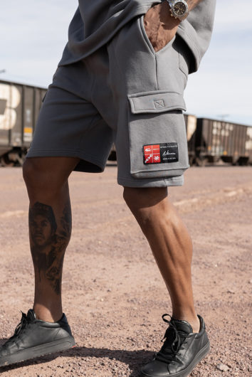 Nimes - Cargo Pocket Shorts - Charcoal
