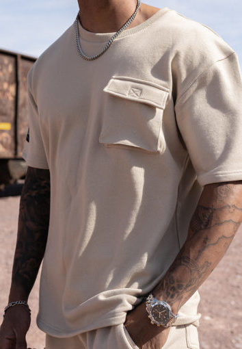 Nimes - Cargo Pocket T-Shirt - Stone