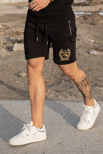 Nimes - Crest Fleece Shorts - Black