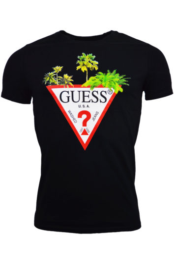 Guess - Palm Triangle T-Shirt - Black