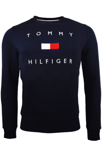 TOMMY HILFIGER – FLAG SWEATSHIRT – NAVY