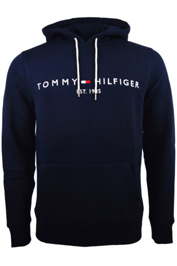 TOMMY HILFIGER – CORE TOMMY LOGO HOODIE – NAVY