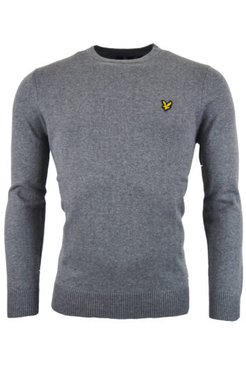 Lyle & Scott - Cotton Merino Crew Jumper Sweatshirt - Grey