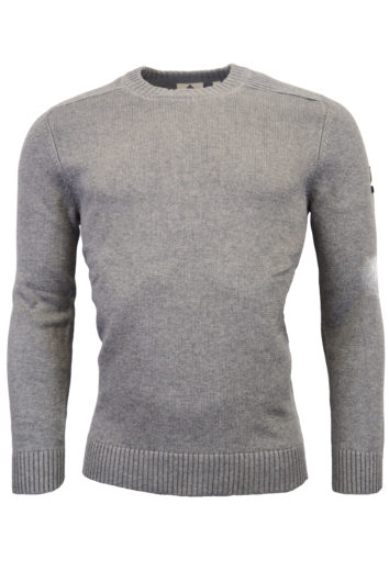 Lyle & Scott - Should Detail Crew Neck Knit Sweatshirt - Grey