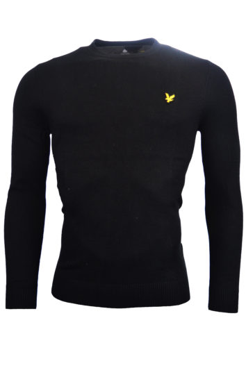 Lyle & Scott - Should Detail Crew Neck Knit Sweatshirt - Black