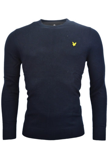 Lyle & Scott - Cotton Merino Crew Jumper Sweatshirt - Navy