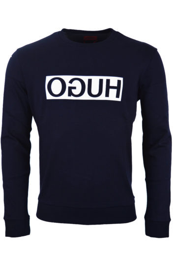 Hugo Boss - Reverse Hugo Sweatshirt - Navy