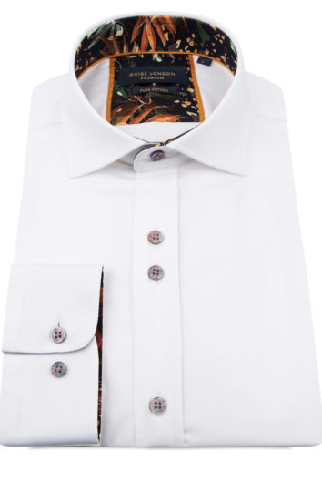 Guide London - Long Sleeve Shirt LS75814 - White