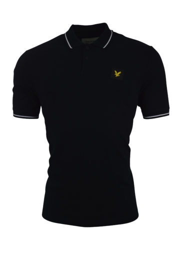 Lyle & Scott - Tipped Polo 1321 - Black