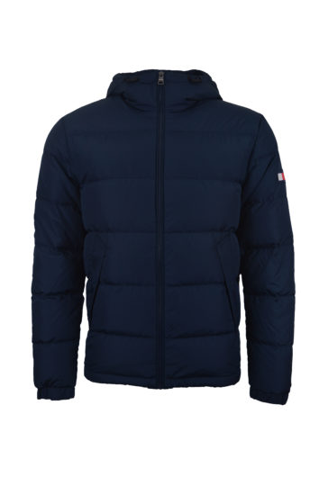 Tommy Hilfiger - Hooded Redown Bomber Jacket - Navy