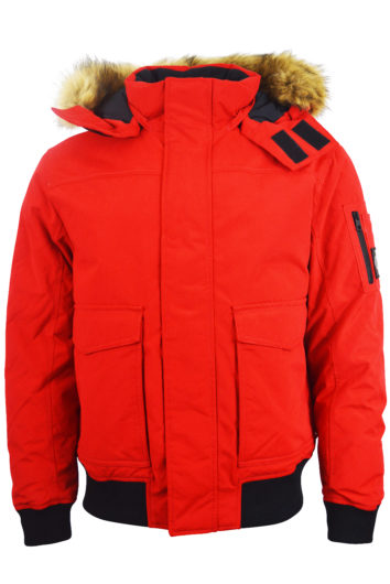 Calvin Klein - Fur Trimmed Down Jacket - Red