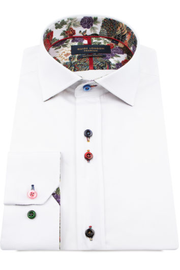 Guide London - Long Sleeve Shirt LS75815 - White