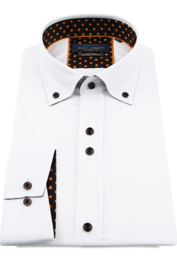 Guide London - Long Sleeve Shirt LS75816 - White