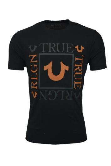 True Religion - Square Logo T-Shirt - Coal