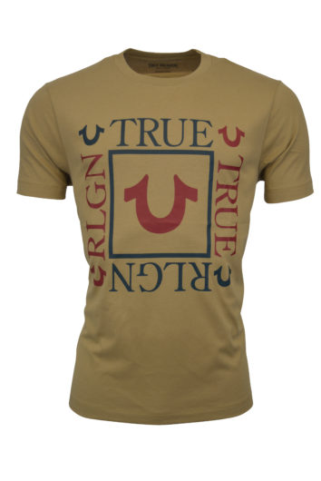 True Religion - Square Logo T-Shirt - Beige