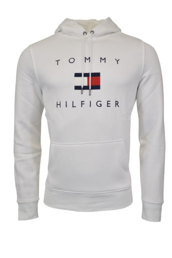 Tommy Hilfiger - Flag Hoodie - White