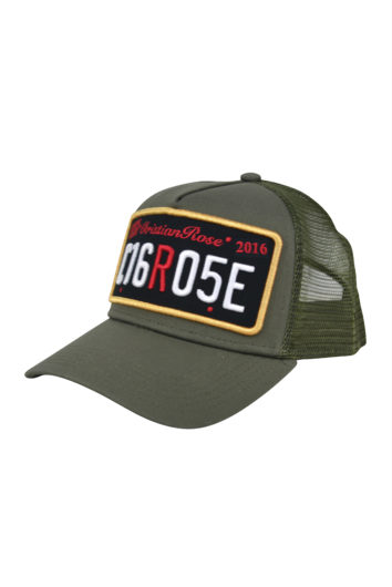 Christian Rose - Private Plate Cap - Olive & Black