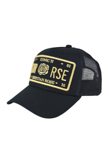 Christian Rose - Outline Cap - Black & Gold