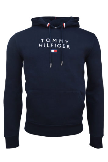 Tommy Hilfiger - Stacked Flag Hoodie - Navy