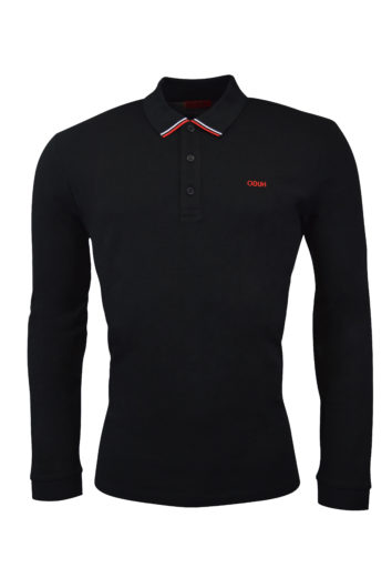 Hugo - Donol LS Polo - Black
